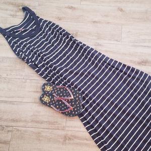 Sonoma navy and white striped Maxi dress! Sz XL